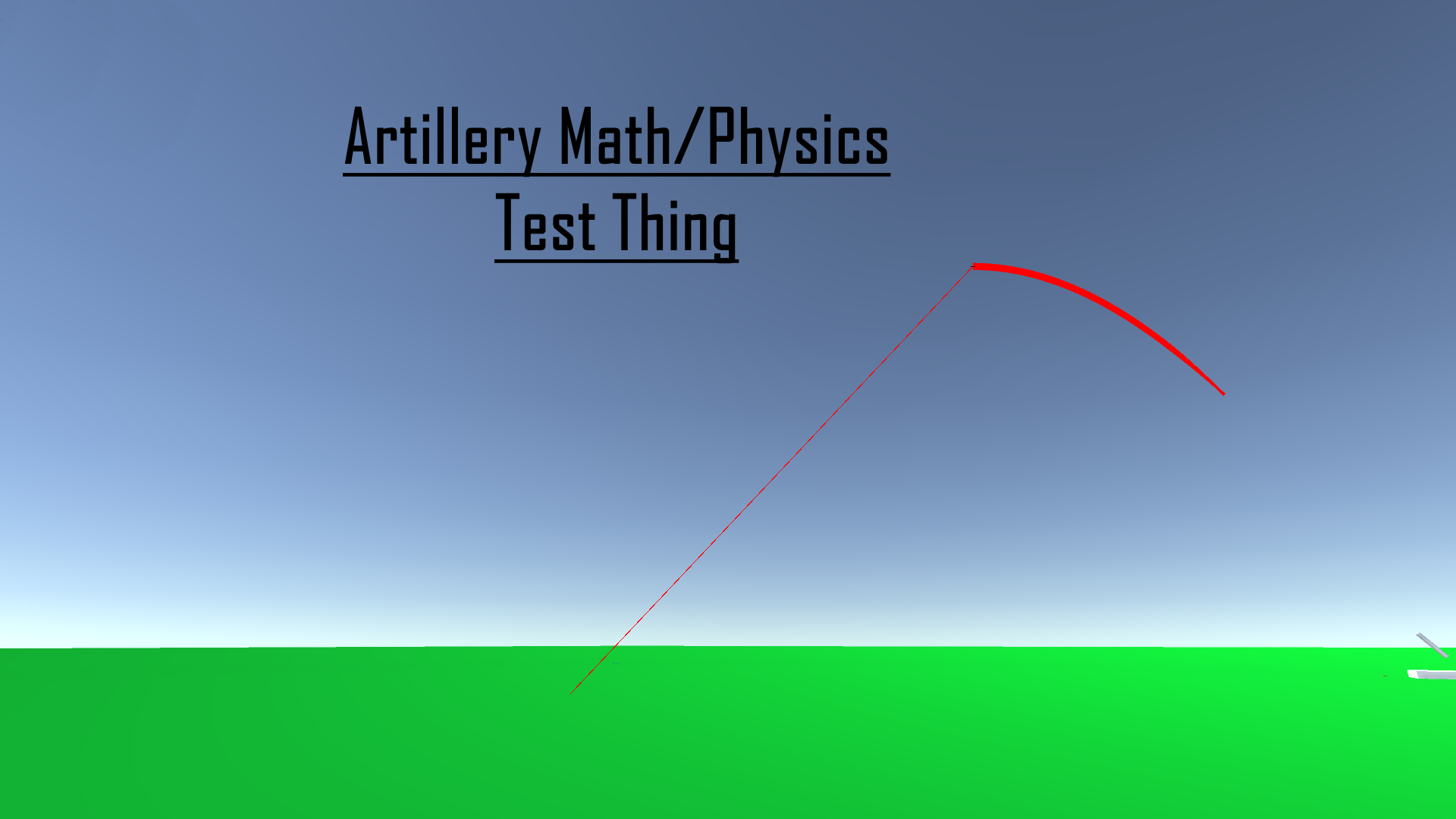 Artillery Physics Test